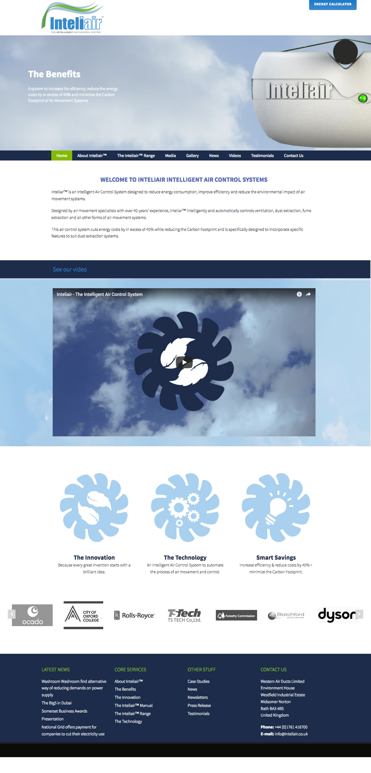 Website Design in Somerset for Inteliair